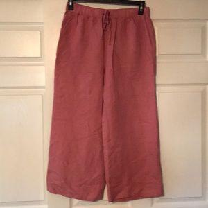 Women's A&F Pink Wide Leg Trousers Size Medium